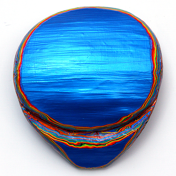 BLUE MOON RISE, Entz, acrylic on wood, ©2009