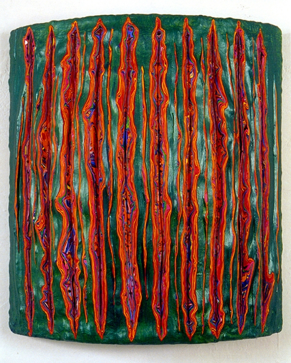 TRUNK: DIVIDE, Entz, acrylic on wood, @2007